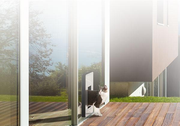 Confort- La première porte pour chiens/porte pour chats isolée thermiquement qui convient aussi aux maisons passives.